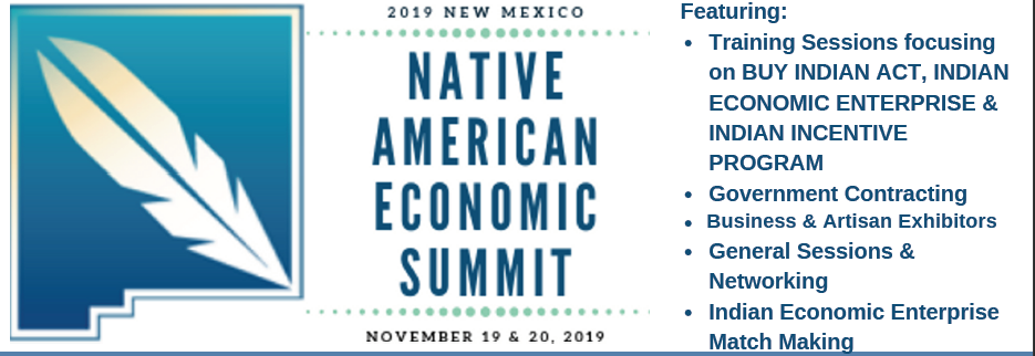 2019 AICCNM Native American Economic Summit Flyer